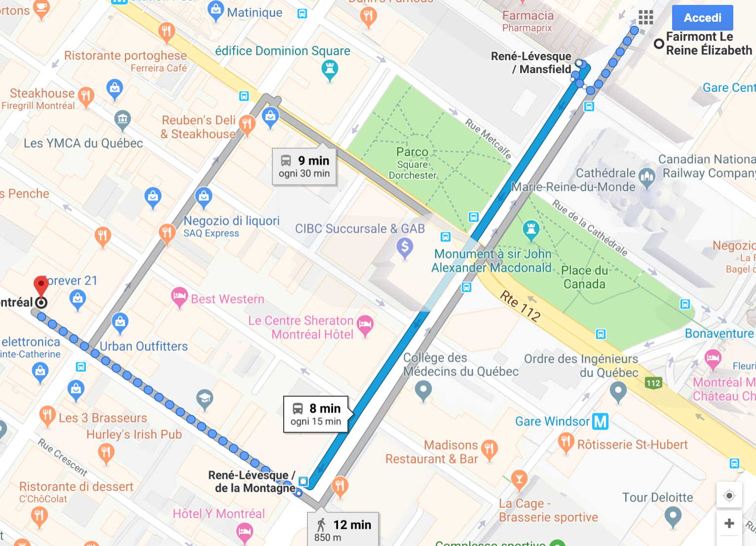 Directions to restaurant