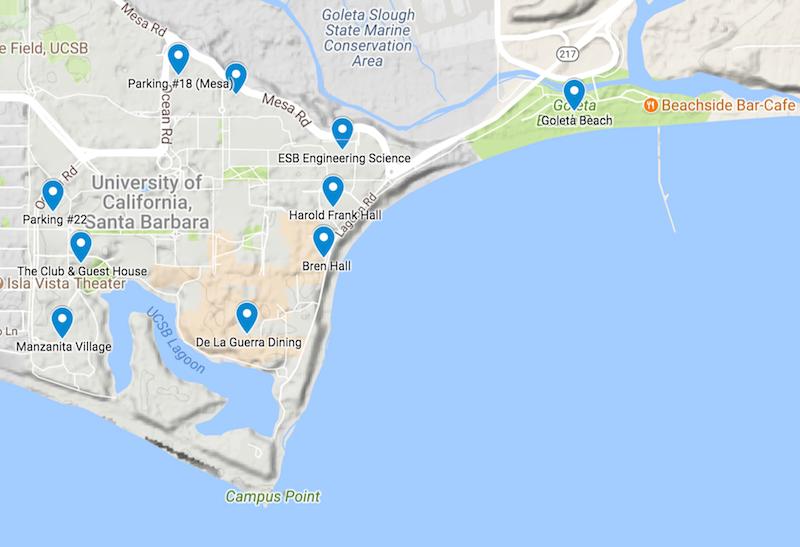 UCSB Campus Google Map Photo
