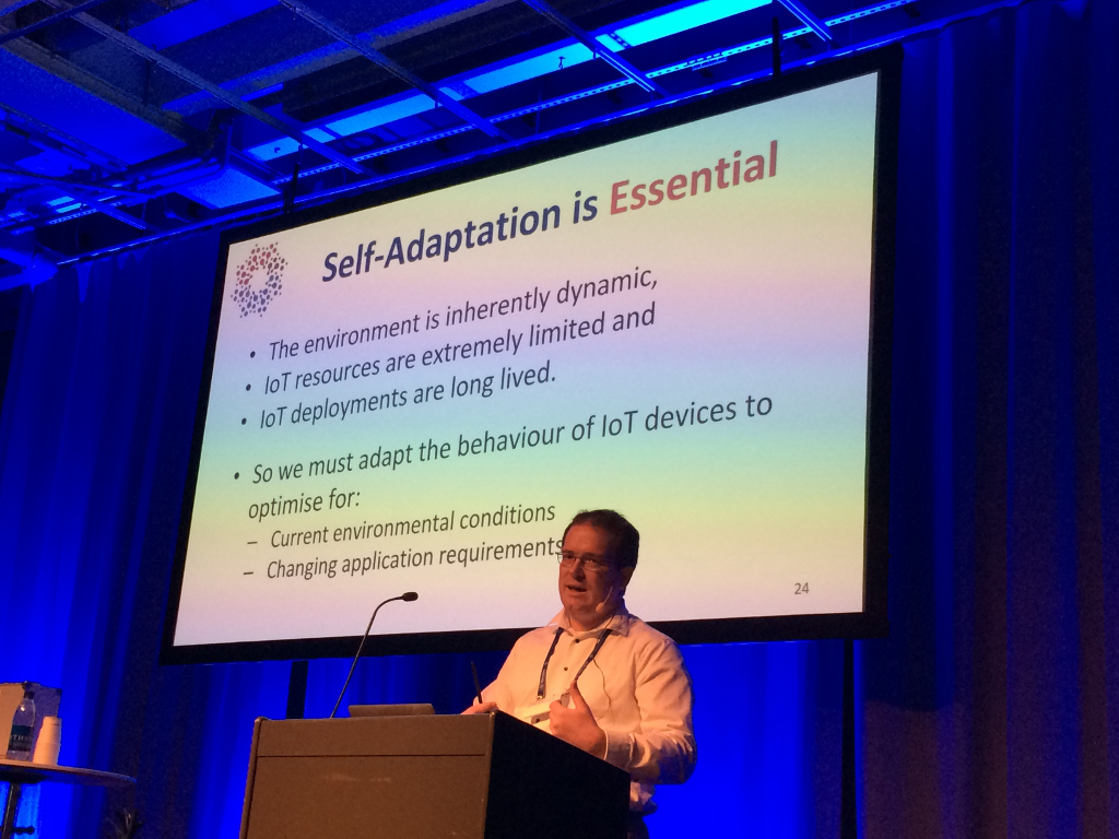 Keynote by Danny Hughes self-adaptation is essential for IoT
